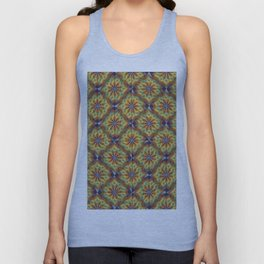 Colorful abstract floral pattern Unisex Tank Top