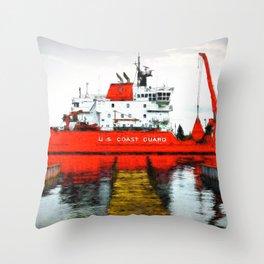 Coast Guard Cutter Mackinaw Throw Pillow