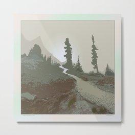 FOGGY MOUNTAIN TRAIL Metal Print