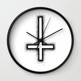 Inverted Cross Wall Clock