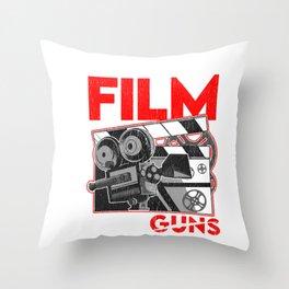 Shoot Film Not Guns Peaceful Filmmaker Director Throw Pillow