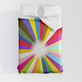 Bright Ray Background Comforters