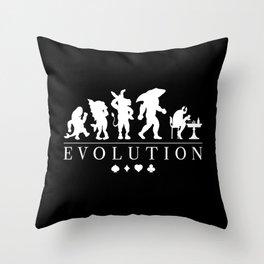 Poker Darwinism Throw Pillow