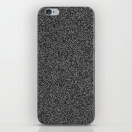 TV static noise iPhone Skin