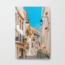 Cannes City Print, French Riviera Art, Travel Print, Architecture Print, Beautiful Urban Streets Of Cannes, Cote D'Azure, Downtown City Cannes, Wall Art Poster, Home Decor Print Metal Print
