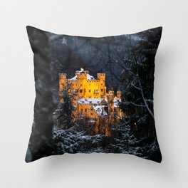 The Castle in the wood Throw Pillow