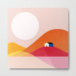 Abstraction_Mountains_Simple_House_Minimalism Metal Print