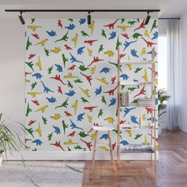 Technicolor Dino Friends Wall Mural
