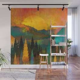 The Sunset Wall Mural