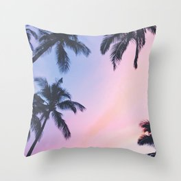 Palm Trees Tropical Beach Throw Pillow