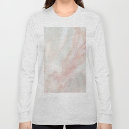 Softest blush pink marble Long Sleeve T-shirt