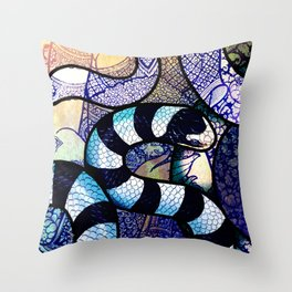 Yellow-Lipped Sea Krait Throw Pillow