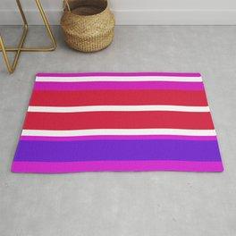 Design lines pink Rug