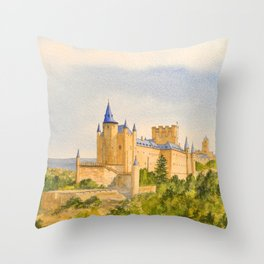 The Alcazar Segovia Spain Throw Pillow