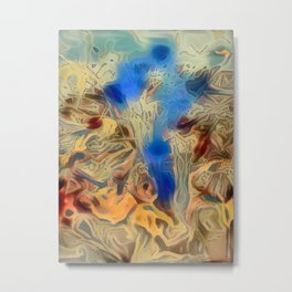 Evaporating Psylocybin Heaven Shroom in Flower Pot Metal Print