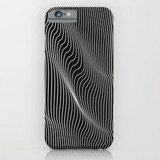 Minimal curves black iPhone 6s Slim Case