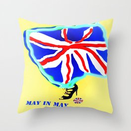 May in May (trouble in politics - Brexit) - shoes stories Throw Pillow