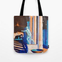 Pompei at Night - Vintage German Travel Ad Tote Bag