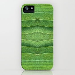 Abstract Green Leaf Design 866 iPhone Case