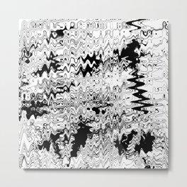 Monochrome wave Metal Print
