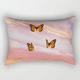 Butterfly Sunset Aesthetic Rectangular Pillow