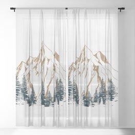 mountain # 4 Sheer Curtain