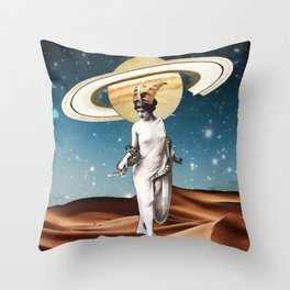 saturn in capricorn Throw Pillow