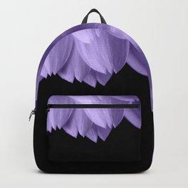 Ultra violet purple flower petals black Backpack