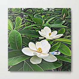 White Flowers of the Purest Essence Metal Print