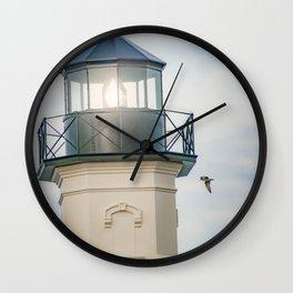 """Block Island Lighthouse"" by Murray Bolesta Wall Clock"