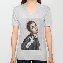 Miss Delevingne for US Vogue Unisex V-Neck