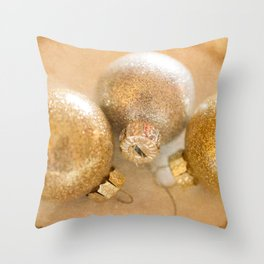 Silver and Gold Ornaments Throw Pillow