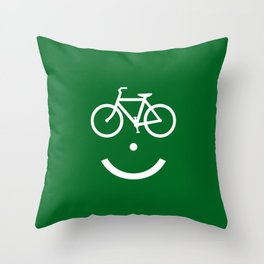 Bike Lane :) Throw Pillow