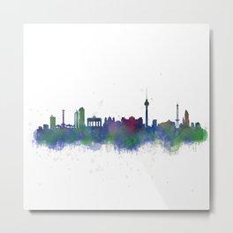 Berlin City Skyline HQ2 Metal Print