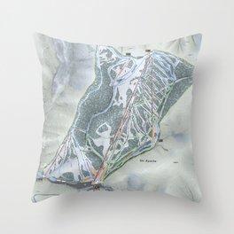 Ski Apache Trail Map Throw Pillow