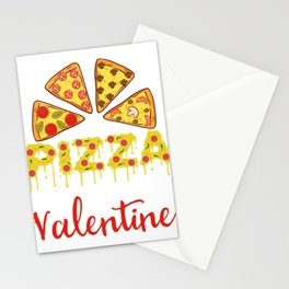 """""""Pizza Is My Valentine"""" Snacks Food Shirt For Snack Lovers Pepperoni Mushroom Meatballs Cheese Stationery Cards"""