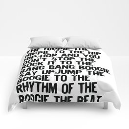 RAPPERS DELIGHT Hip Hop CLASSIC MUSIC Comforters