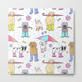Dotty Downpour Doggie Doodles Metal Print