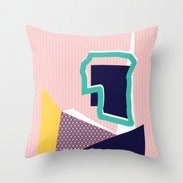 Geo Tile ii Throw Pillow