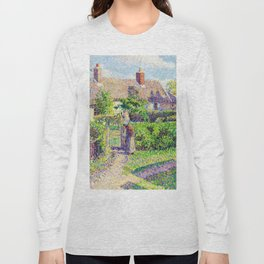 Camille Pissarro Peasant Houses in Eragny Long Sleeve T-shirt