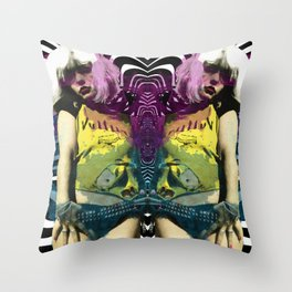 Vulture (Debbie Harry of Blondie) pop art Throw Pillow
