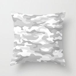 Snow Camo Throw Pillow