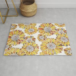 Sunflower Blooms – Yellow Rug