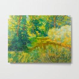 Václav Radimský (1867-1946) Branch of a river Impressionist Landscape Painting Bright Colors Oil Metal Print