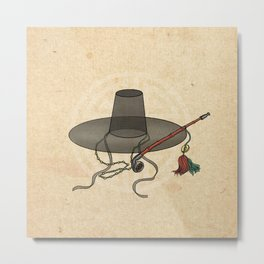 Minhwa: GAT Joseon Hat A Type (Korean traditional/folk art) Metal Print