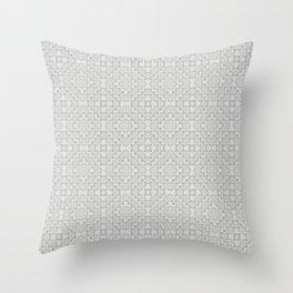 GRAYVILLE - light grey all-over subtle pattern Throw Pillow