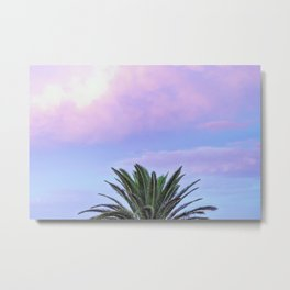 Rainbow Sunrise Palm Tree Metal Print