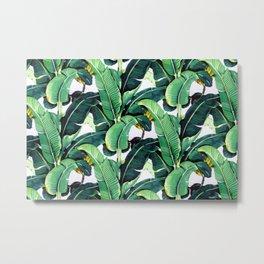 Tropical Banana leaves pattern Metal Print