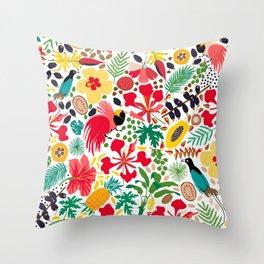 tropical botanical Throw Pillow