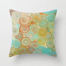 Whirling Wheels - Digital Art  Throw Pillow